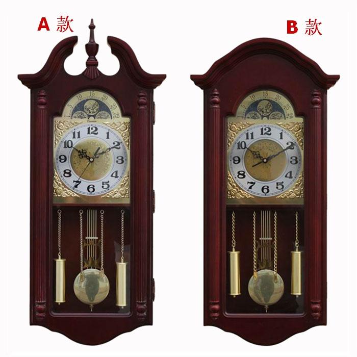 Vintage big wall clock fashion rustic clocks wood mute pendulum l610  -  Authentic craft shop store