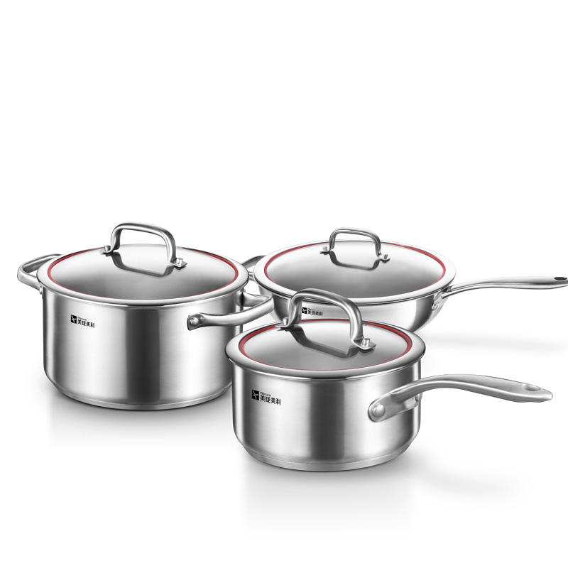 Kitchen Set Pots And Pans: Millenarie Cookware Warm Series SUS304 Stainless Steel