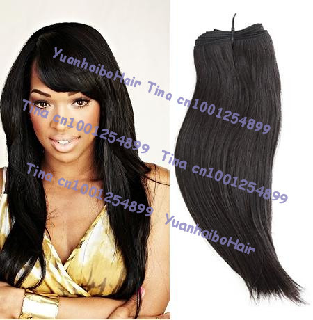 Hot sale 6a quality 3pcs/lot #1b silk straight virgin indian human hair weave for black women free shipping<br><br>Aliexpress