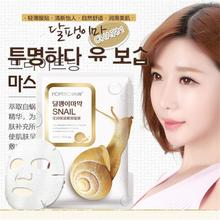 Snail Hyaluronic Elastin Essence Silk Facial Mask Whitening Moisturizing Acne Treatment Anti Wrinkle Anti-Aging Beauty Face Care(China (Mainland))