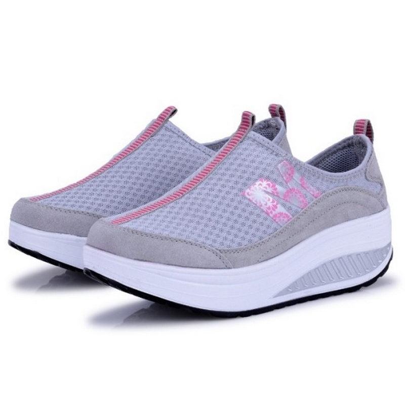 Гаджет  2014 summer sports shoes network genuine leather casual running shoes breathable gauze skateboarding shoes single shoes None Спорт и развлечения