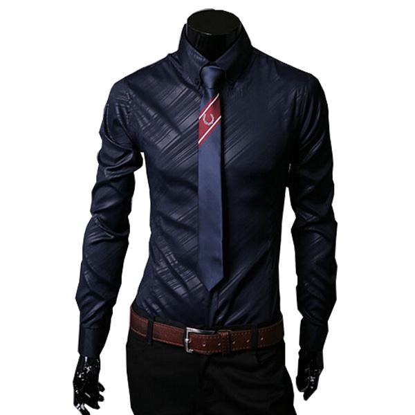 2015 New Arrivals men shirt camisa masculina slim fit mens dress shirts size M-3XL tops - Man's World Clothing Store store
