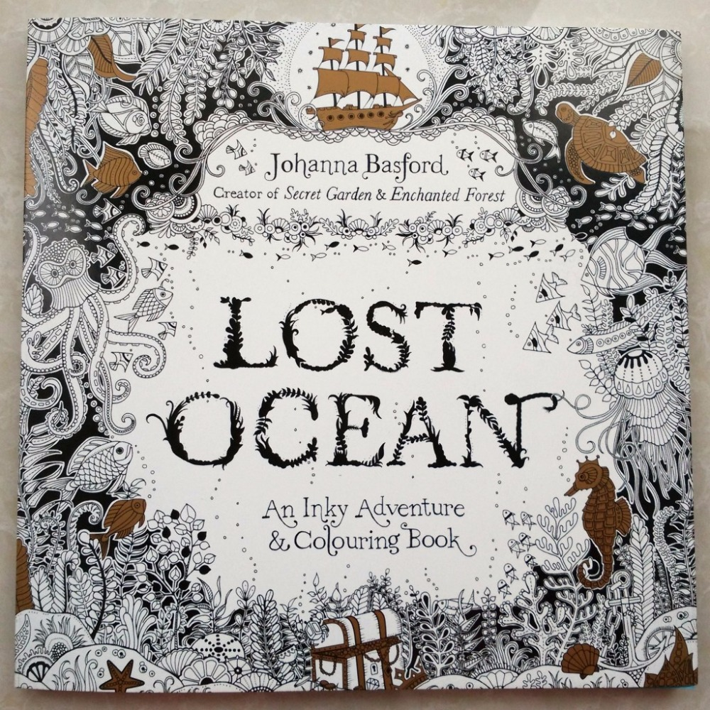 88 pages Secret Garden serie LOST OCEAN adult coloring colouring books For Relieve Stress Kill Time Painting Drawing Book(China (Mainland))
