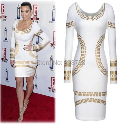 2015 gilt white burgundy blue print Slim black pencil skirt dress trade - Designershop2015 store