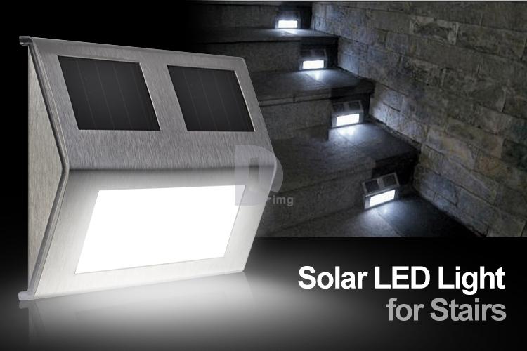Solar Step Lights Outdoor Set Of Four Solar Step Lights Outdoor
