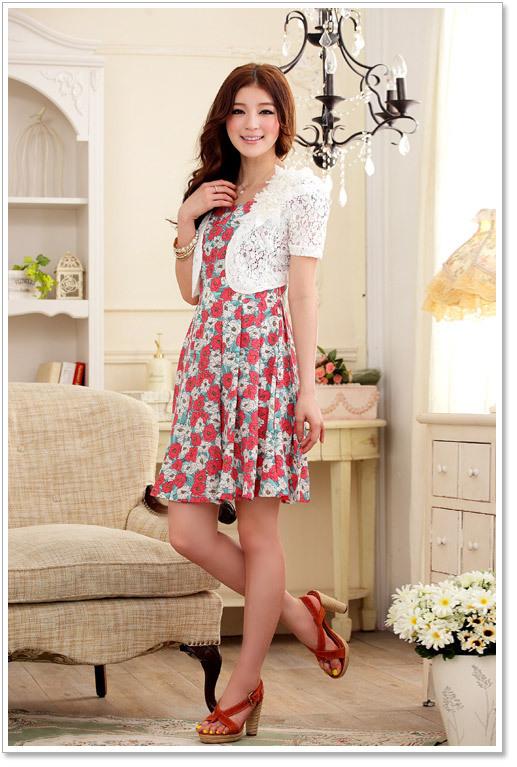 Free Shipping 2014 Fashion Ladies Women Summer Sweet Shrug Lace Trim Bolero Capelet Tops White Black Apricot Outerwear(China (Mainland))