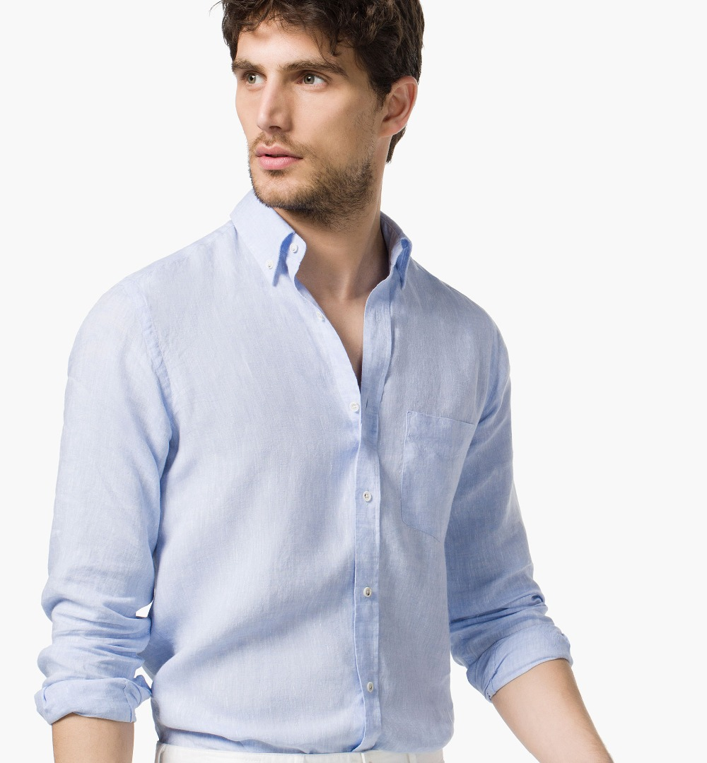 Popular Fitted Button Down Shirts for Men Blue-Buy Cheap Fitted ...