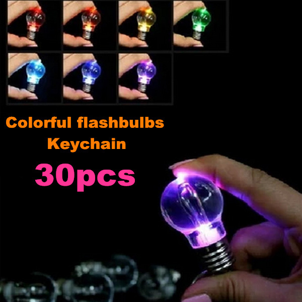 New creative toy luminous intensity of color key chain flash, ABS + Electronic Components night light, 3 * 5.7cm, 30 x(China (Mainland))