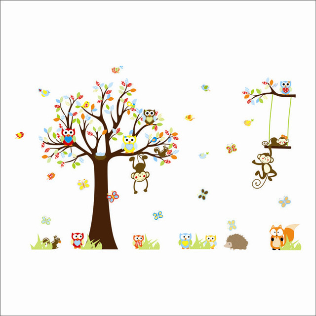 cartoon 3d wall sticker vinyl mural decal 3d wall sticker self adhesive wallpaper ceramic tile