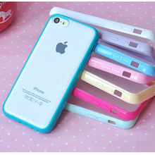 10 Colors Clear Matte Case For Coque iPhone 5c Case Silicone Frame Plastic Back Carcasa Funda For Capa Para iPhone 5c Capinha