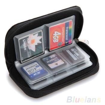 Черный SD SDHC MMC CF микро-жесткий карт памяти для хранения сумка чехол держатель кошелек 08N8