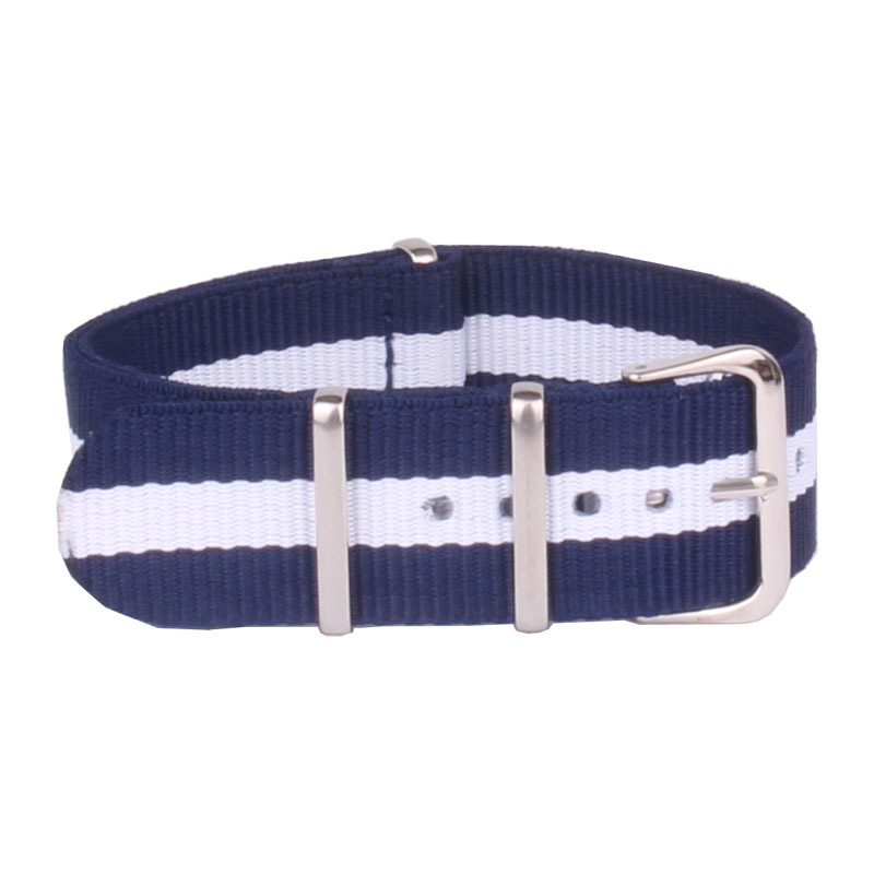 Popular New 2014 Watch 18 mm Army Navy White Military nato fabric Woven Nylon watchband Strap Band Buckle belt 18mm accessories(China (Mainland))