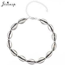 Jisensp Boho Style Summer Beach Seashell Beaded Necklace for Women Handmade Adjustable Ethic Shell Chokers Necklace bijoux Gift(China)