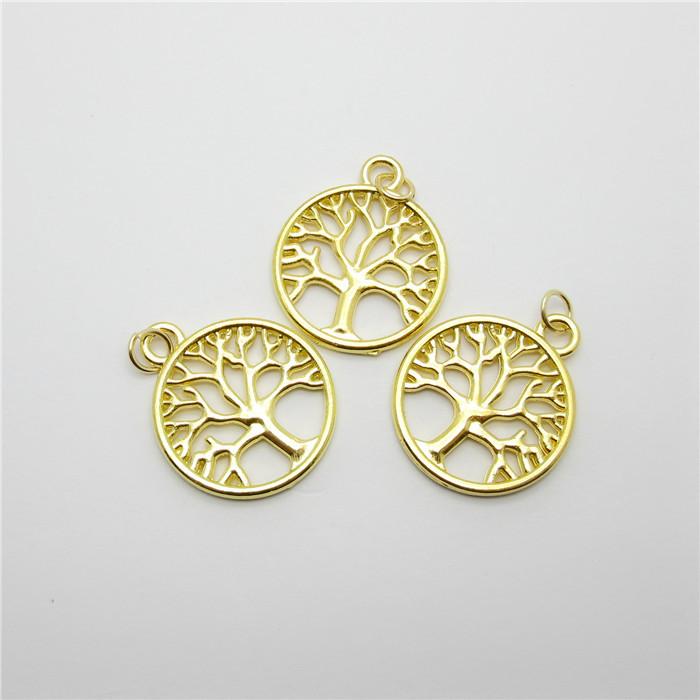 wholesale lots 45pcs gold charms metal tree charm fit diy
