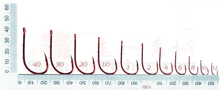 Where can you buy a fishing hook size chart?