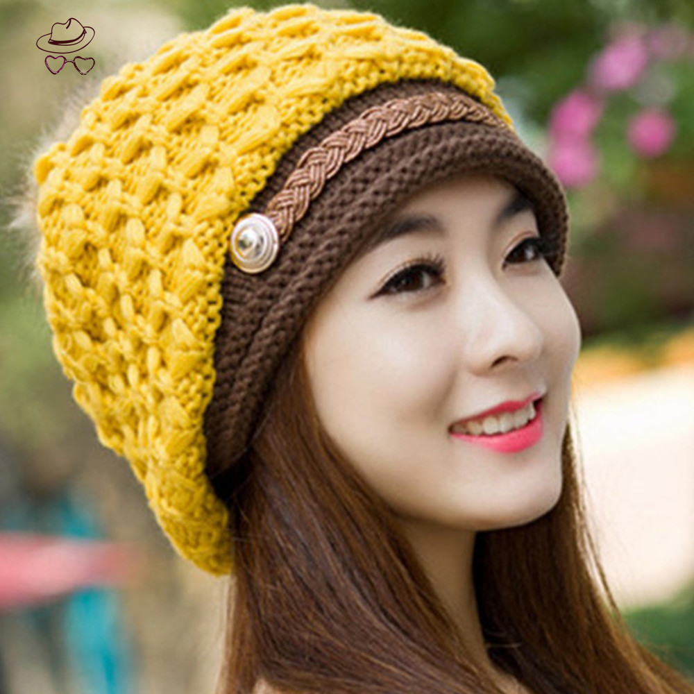 US Europe Hot Women Hat Fall Winter Hats Casual Beanie Snapback Caps Hairball Hats Warm Ear Protection Wool Swag gorras M011(China (Mainland))