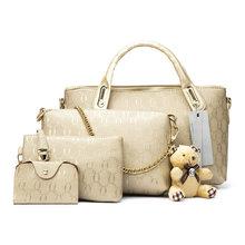 Soperwillton женская сумка Топ-ручка сумки женские известный бренд 2017 женщин сумки через плечо сумки набор PU кожа Композитный сумка #150(China)