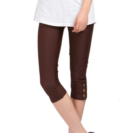Summer cool swimming cloth capris female slim skinny legging pants