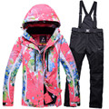 2016 winter ski suit women snowboard jacket womens pants skiing sets size M XXL outdoor sportwear