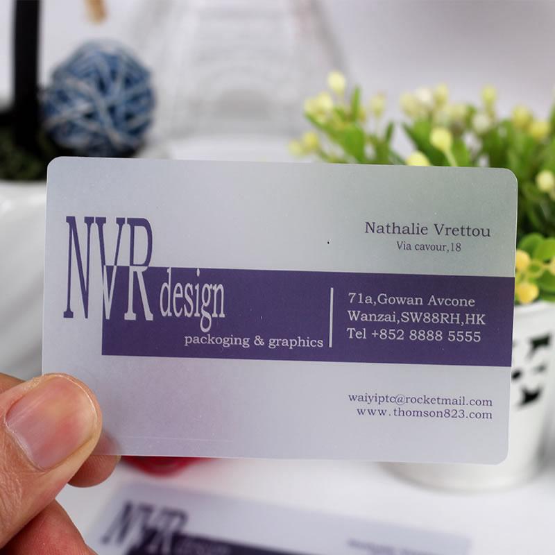 200PCS Business Name Card Transparent Plastic Business Card Printing Custom Print Cards<br><br>Aliexpress
