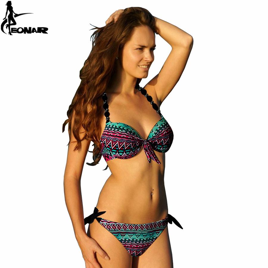 bikinis women 2016 print floral bikini women swimsuits brazilian push up bikini set bathing. Black Bedroom Furniture Sets. Home Design Ideas
