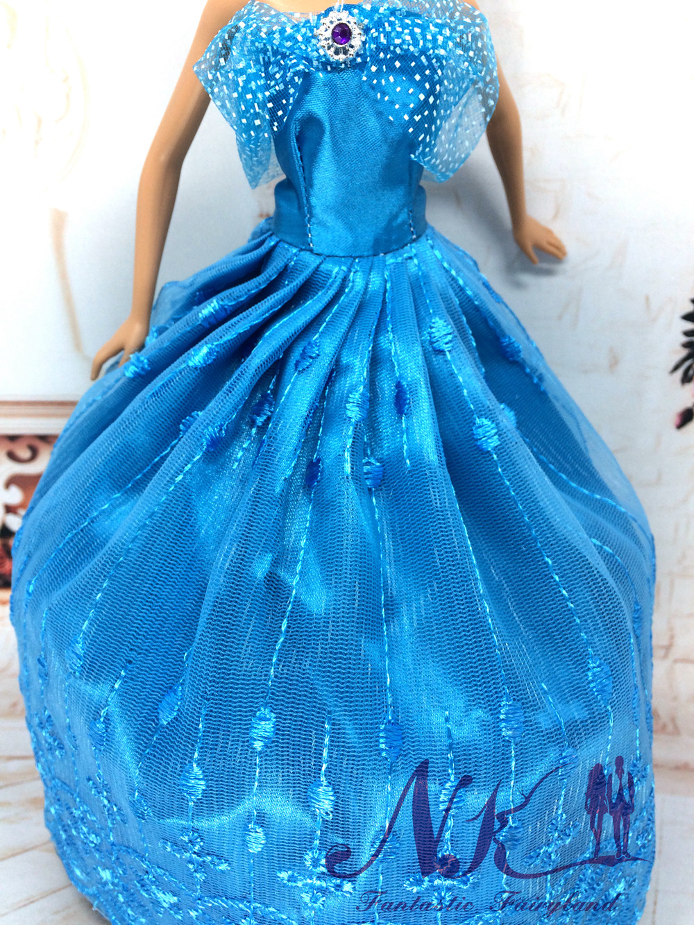 NK One Pcs Princess Gown For Cinderella Films Wedding ceremony Gown Noble Social gathering Robe For Barbie Doll Outfit Finest Present For Lady' Doll