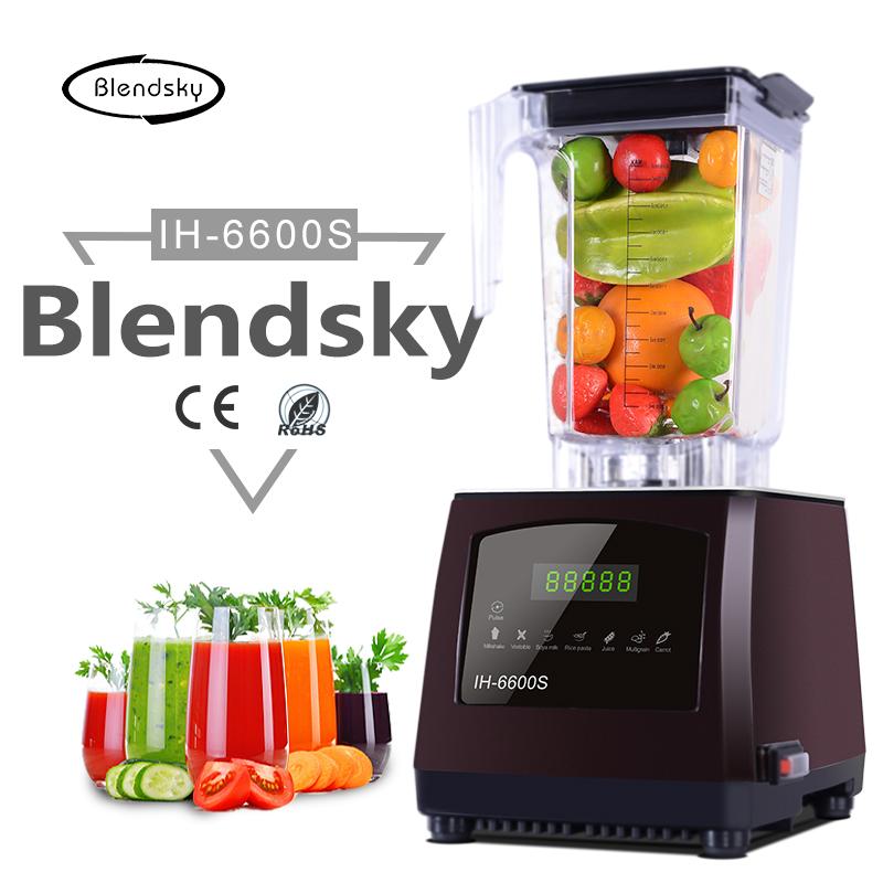 Blendsky free shipping IH-6600s commercial blender juicer 2L capacity plastic jar stainless steel blade mixer blender(China (Mainland))
