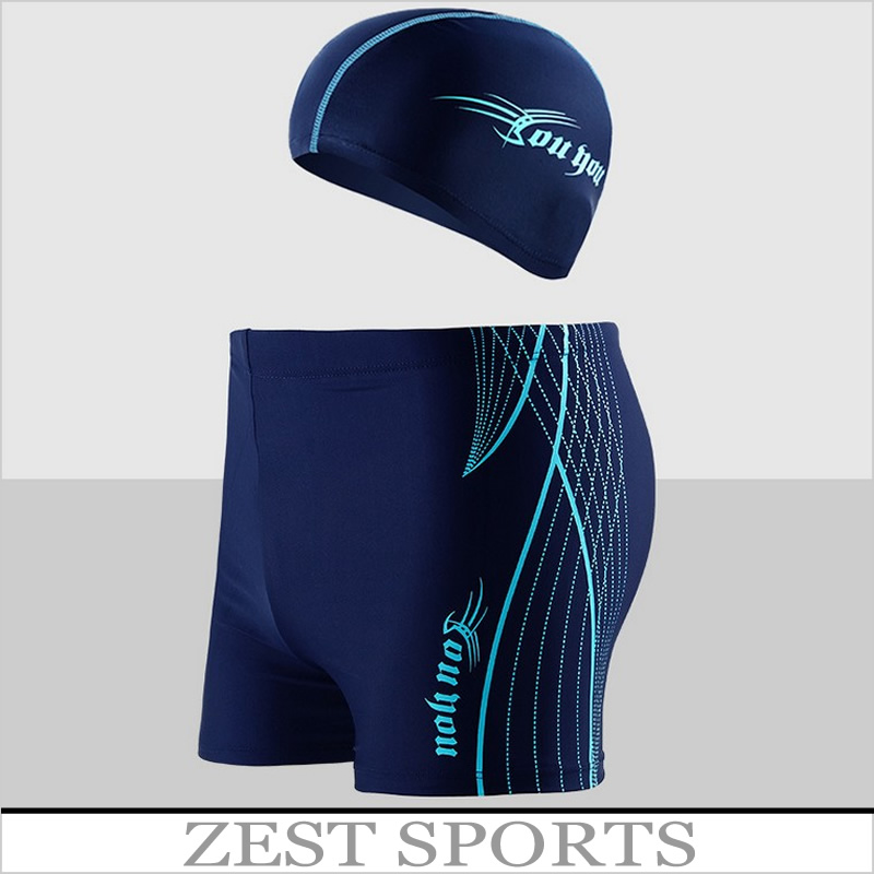 HOT Most Popular Hottinger men's swimming trunks boxer for boys swimsuit Spa,with Swimming Cap,beach trunks,plus size swimwear(China (Mainland))