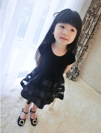 (30)- 2016 summer patchwork lace cotton princess one-piece dress child girl - guangdong humen costume Factory store
