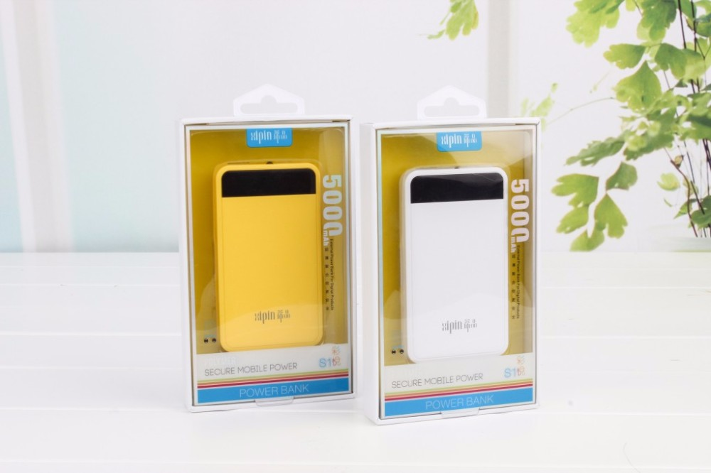 Original Xipin S1 5000mAh Portable Power Bank Mobile Phone and Tablet External Battery Backup Battery Charger LED Light