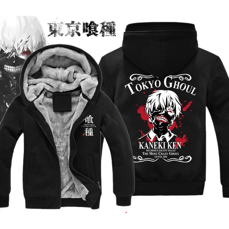 Tokyo Ghoul Hoodie New Anime Uchiha Sasuke Cosplay Coat Uzumaki Jacket Winter Men Thick Zipper Luminous Sweatshirts - Top-rated Seller Stores store
