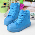 CORITE 6 Candy Colors Children s High Canvas Sneakers Boys Girls Casual Skateboarding Shoes Size 25