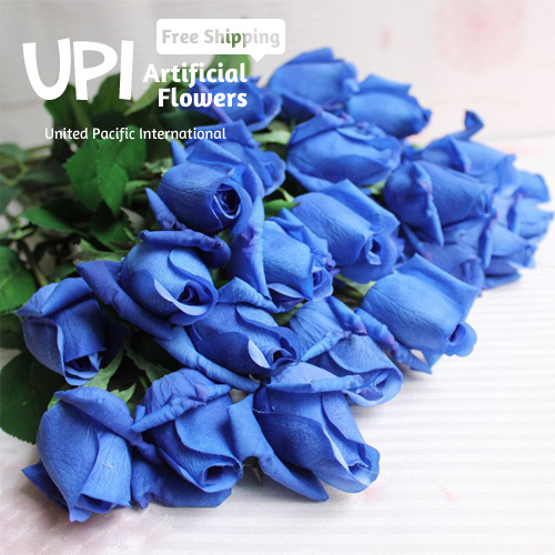 (4) Artificial Flowers Real Touch Rose Decorative Bouquet Wedding Home Party Decorations - Union Pacific International Trading Ltd. store