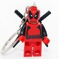 Deadpool Super Hero Minifigures Keychain For Keys Custom Ring Keychains DIY Handmade Key Chain Building Blocks