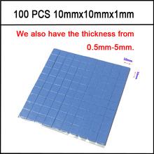10 mm * 10 mm * 1 mm 100 unids Thermal Pad GPU disipador CPU de refrigeración conductiva de silicona Pad alta calidad(China (Mainland))