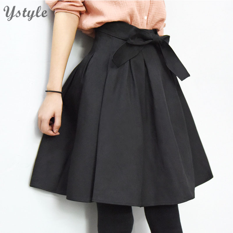 s vintage high waist skirt with bow 2016 summer