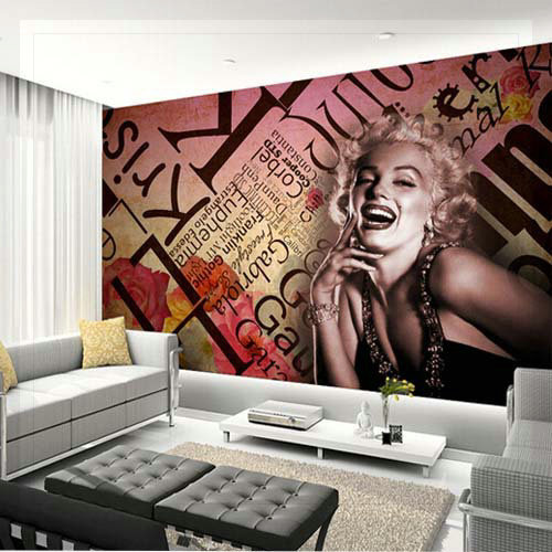 3d mural marilyn monroe wallpaper embossed wall art at witter s end onwards and upwards with the bedroom