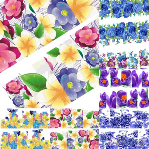 Summer Style Beautiful Flowers Nail Art Nail Decals Water Transfer Stickers Decoration Hot 1UAY 3TTB(China (Mainland))
