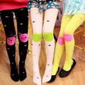Autumn New High Quality children girls tights Velvet candy colors Cute Cat Fish Tights for baby