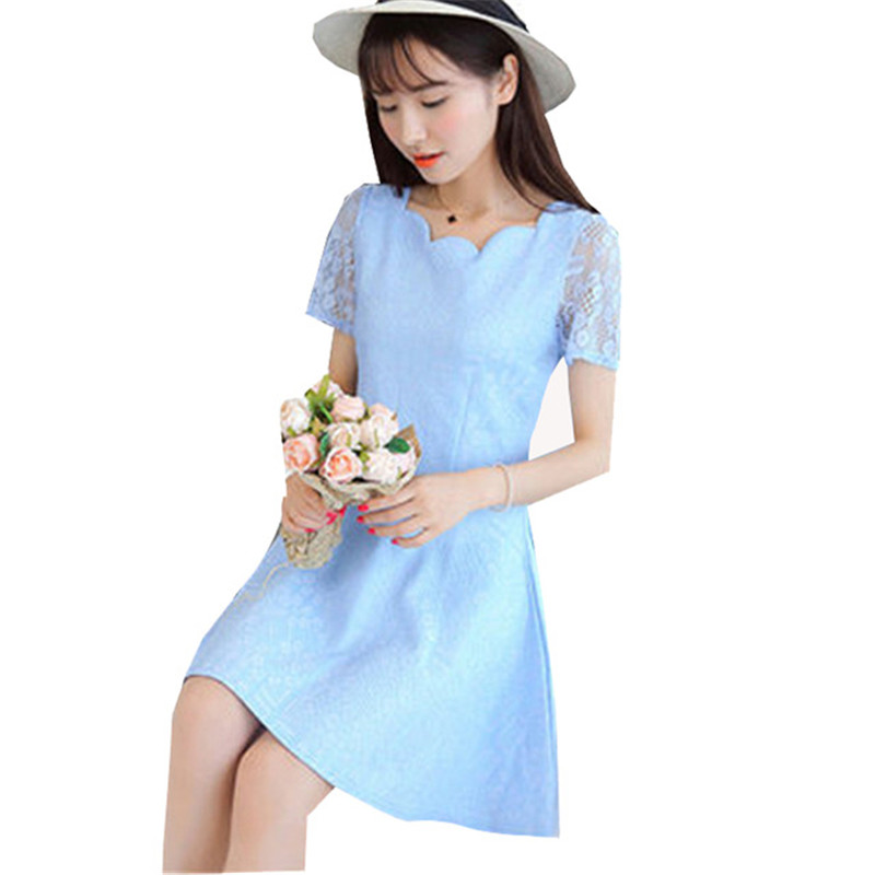 2016 Teenagers Girls Dress Kids Summer autumn Style lace Dresses Solid Formal Girl Evening Dresses Party Dress Of 5 Colour ZY017(China (Mainland))