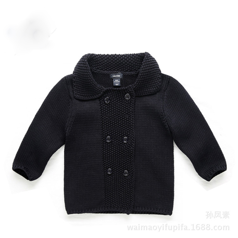 2017 Baby Boys Sweater Brand Cardigan Infantil Newborn Sweater Knitted Cardigan Child COTTON European Black Girl Clothes Spring