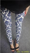 New 2017 Spring National Ethnic Style Retro Graffiti  Paintings Printing Flowers Trousers Printed High Elasticity Leggings(China (Mainland))