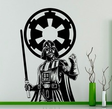 Buy Darth Vader Star Wars Wall Vinyl Decal Skywalker Black Poster Sticker Home Interior Living Room Bedroom Decor Removable Mural for $12.34 in AliExpress store