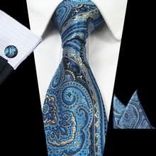 RBOCOTT 8 см Шелковый жаккардовый тканый мужской клетчатый галстук Красный Галстук Пейсли Hanky запонки набор классические коричневые галстуки н...(China)