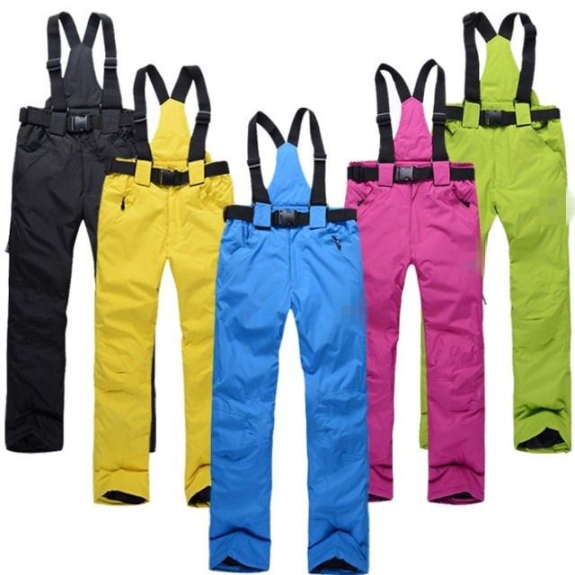 2015 Outdoor professional ski pants women and men's warm waterproof trousers thickening breathable skating pants free shipping(China (Mainland))