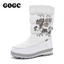GOGC frauen stiefel winter frauen Winter Hohe Stiefel Frauen Schnee Stiefel Winter frauen stiefel Wasserdicht Stiefeletten Stiefel flache schuhe 9620(China)
