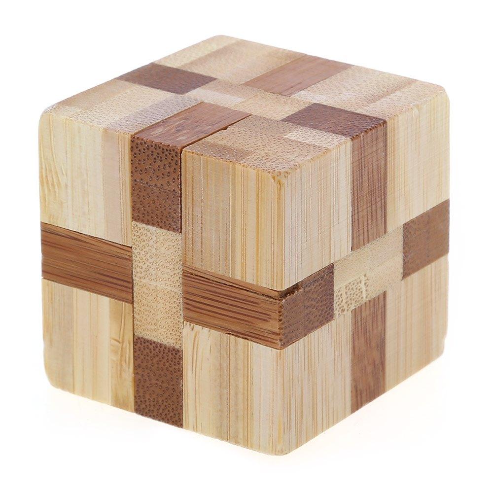 3D Eco-friendly Wooden Magic Cubes Interlocking Burr Puzzle IQ Brain Teaser Intelligent Toy Funny & Educational(China (Mainland))