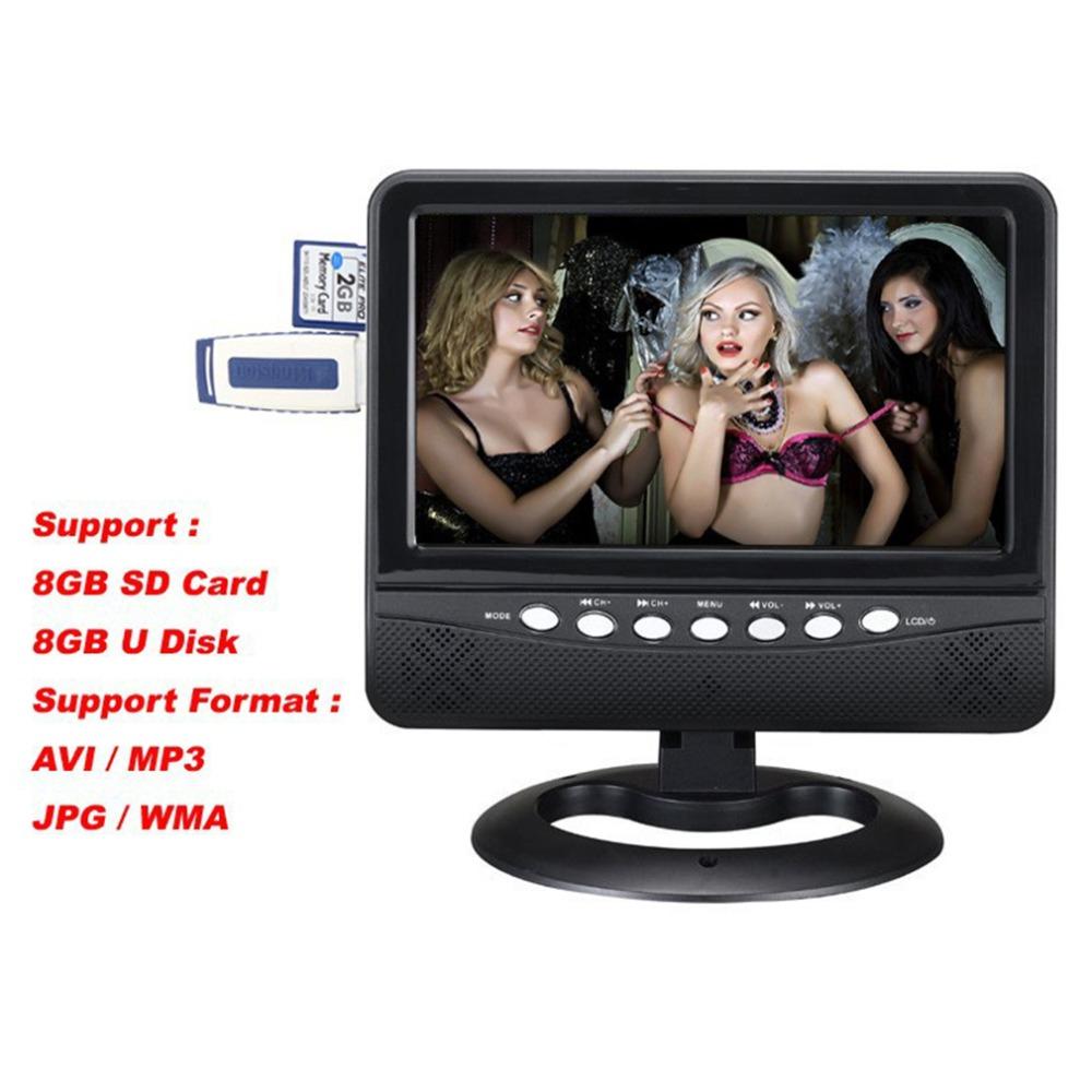 7inch Hot Sale Russian Column Portable Mini TV With Pal/NTSC/SECAM DC12V Good Brightness Mini Portable TV Portable Out Function
