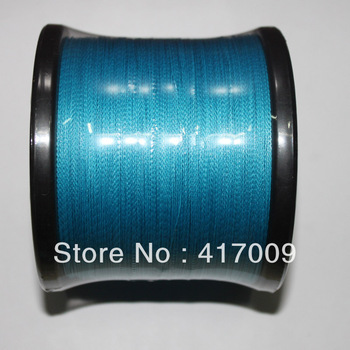 Wholesales free Shipping 8 strands 1000M strong pe fishing line dyneema  line blue  factory marketin