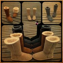 Wholesale 5815 Australia classic tall waterproof cowhide genuine leather snow boots warm shoes for women(China (Mainland))